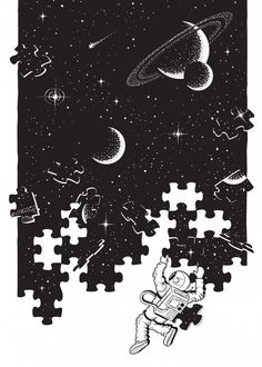 The Universal Puzzle Space Poster Print Space Drawings, Star Art, Galaxy Drawings, Puzzle Art, Conceptual Art, Art, Futuristic Art, Painting Art Projects, Pop Art Wallpaper