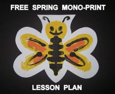 """""""SPRING THINGS"""" EASY-ART MONO-PRINT - https://www.teacherspayteachers.com/Product/Spring-Things-Easy-art-Mono-Print-1160142 A FREE fun, mono-printing experience for the elementary student: related to the season and environment of Spring. It teaches children a basic art skill and exposes them to an understanding of the meaning of symmetry, as it is applied to nature. www.teacherspayteachers.com/Product/Spring-Things-Cut-Paper-Craftivity-and-Writing-prompt-1155038"""