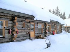 Log Cabin With Sauna, Log Fire And Forest Views - Äkäslompolo Log Fires, Forest View, Cross Country Skiing, One Bedroom, Aurora, Swimming Pools, House Styles, Outdoor, Home