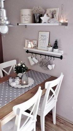 Romantische Küche, pastellfarbene Wand is part of Romantic kitchen - Romantic Kitchen, Shabby Chic Kitchen, Shabby Chic Decor, Kitchen Decor, Kitchen Tables, Dining Tables, Diy Kitchen, Kitchen Ideas, Dining Rooms