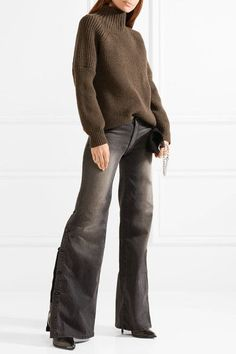 Nili Lotan - Ena Mid-rise Wide-leg Jeans - Gray