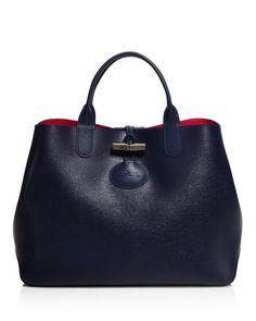 2bcc6ea3eb9b1 Longchamp Medium Roseau Reversible Tote Fab Bag