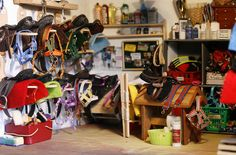 EA Equestrian model tack room. I am amazed at this. Ideas galore!!!