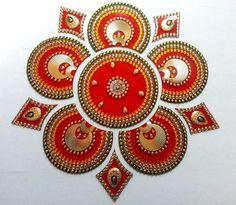 Rangoli Indian Wedding Diwali decor Hindu, kundan rangoli, Acrylic Rangoli Kolam #Handmade