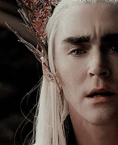 Is that a tear? I never noticed it before. OMG, I think Thranduil is crying. This makes the confrontation with Thorin in Mirkwood even more meaningful. And this is so sad - Thranduil was in tears because his attempt to negotiate with Thorin for the return of his wife's jewels had failed! This is Thranduil realizing that the pride of the Durins will NEVER allow him to receive the necklace of his beloved late Queen.
