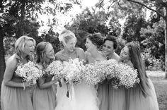 Donna Morgan Blog :: Wedding Album. Babies Breath bouquets!