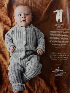 Vauvan villahaalari haalari novita wool cotton 350 - 450 g koot 62 - 86 cm puikot 4 kohoneule skk 10/2017