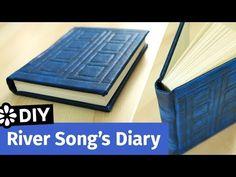 Doctor Who DIY River Song's Diary   TARDIS Journal   Sea Lemon - YouTube