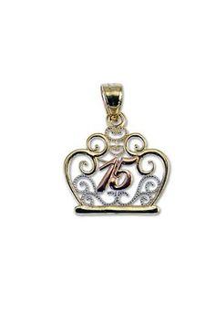 14k Tricolor Gold, Tiara Crown 15 Pendant Charm Quinceanera 19mm Wide GiveMeGold, http://www.amazon.com/dp/B005HJ0YKK/ref=cm_sw_r_pi_dp_ftLZpb0CBKCFH