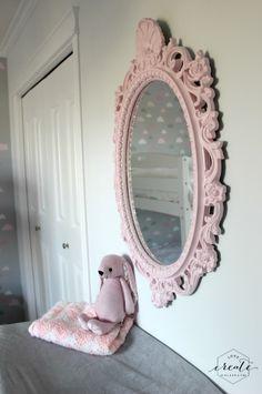 DIY mirror for toddler or little girl bedroom :)
