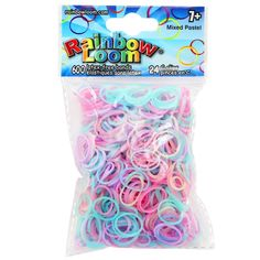 Find the Rainbow Loom® Pastel Rubber Bands at Michaels. Long lasting and latex free, these rubber bands are just what you and your little ones need to make the latest stylish accessories. Long lasting and latex free, these rubber bands are just what you and your little ones need to make the latest stylish accessories. Details: Includes assorted pastel colors, 1.65 oz. (47 g) package, Latex-free, Rubber and plastic, For ages 6 and upContents:600 rubber bands, 24 C-clips | Rainbow Loom® Pastel Rub Rainbow Loom Patterns, Rainbow Loom Bands, Rainbow Loom Bracelets, Frozen Headband, Homemade Bracelets, Barbie Doll Set, Little Backpacks, Baby Doll Toys, Rubber Band Bracelet