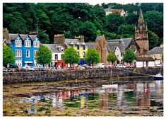 Tobermory - a colourful town on the Island of Mull.