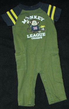 67c8d0ddd  Carter s  Baby Boys 12 Month One Piece  Football Monkey Outfit  teamsellit  Football