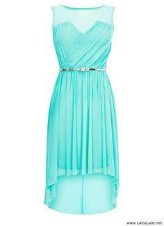 Mint high low dress!! I LIKE IT!!