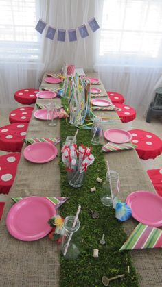 """Treasure on table runner...Photo 36 of 41: woodland fairy / Birthday """"Hannah's 6th Birthday - Woodland Fairy Party"""" 