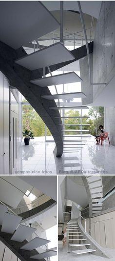 Escalera viga_HA_Casa en Kyoto ¿cómo se hizo?