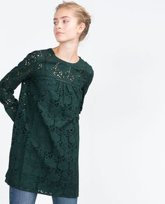 SCHIFFLI LACE DRESS-View all-Dresses-WOMAN   ZARA United States