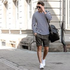 How To Wear Stripe t shirt for men. #mensfashion