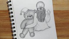 Girl Drawing Sketches, Girly Drawings, Girl Sketch, Cool Drawings, Pencil Drawings, Cat Gifts, Cute Art, Creative, Youtube