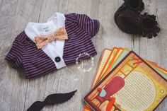 Baby Boy Cardigan Onesie and Bow Tie Set Orange and Navy | Broncos | First Birthday Outfit |  Coming Home Outfit  |  Izzy & Isla  |  OOTD  |  Kids Trendy Apparel  |  Bow Tie Set  |  Boys Fashion  |  Baby Shower Gifts