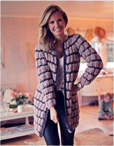 TJOCKT Martta the Merino by Kalastajan vaimo - ME NAISET Martini, Knit Crochet, Fur Coat, Sunnuntai, Knitting, Classic, Sweaters, Jackets, Clothes
