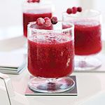 Merry Cranberry Margaritas Who says margaritas are just for summer? Celebrate the holidays with this festive frozen drink featuring both cranberry juice cocktail and fresh cranberries. Reserve some of those fresh berries to make a simple garnish.
