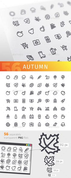 Autumn Line Icons Set. Download here: https://graphicriver.net/item/autumn-line-icons-set/17446843?ref=ksioks