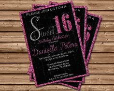 Pink Sweet 16 Candy Wrapper Sweet Sixteen Party Favors