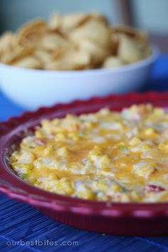Hot Corn Dip! Good friend said it is amazing and a MUST. Can use light mayo and light cheese.