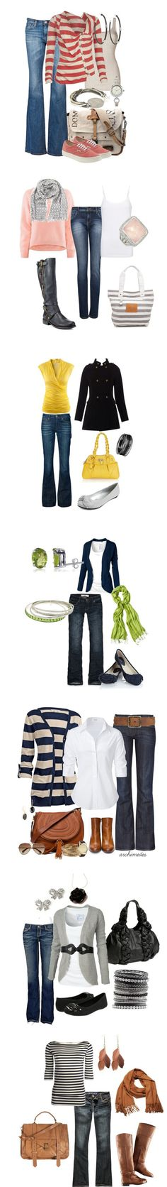 20 October Fashion Picks - - A few of my October Fashion Picks, these outfits are bright, colorful, and dressed to kill. Mode Outfits, Fashion Outfits, Womens Fashion, Fashion Trends, Fashion 2017, Fashion Inspiration, Jeans Casual, Casual Outfits, Office Outfits
