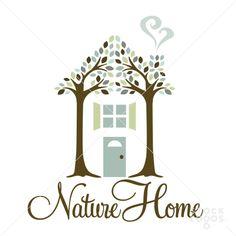Nature tree top home design   StockLogos.com