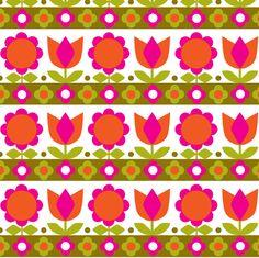 Danish_Tulip Pink fabric by aliceapple on Spoonflower - custom fabric