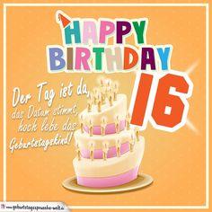 16. Geburtstag Geburtstagssprüche Happy Birthday Geburtstagskind - Geburtstagssprüche-Welt