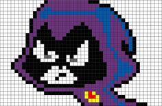 Teen Titans Raven Pixel Art