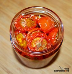 Conserva de tomates cherry en aceite de oliva