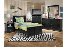 Maribel Twin Panel Bed, Dresser & Mirror - Perfect bedroom for tweens and teens