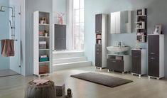 Unterschrank in Weiß und Grau online bestellen Entryway, Closet, Furniture, Home Decor, New Home Essentials, Engineered Wood, Closet Storage, Drawers, Bath Room