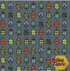 Bugs: Ladybugs Gray - Blend Fabrics 103-102-04-1