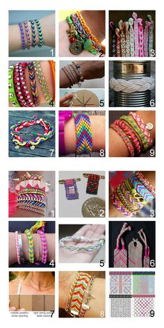 Roundup 18 Friendship Bracelet Tutorials I posted last year including a site with hundreds of patterns for bracelets (#9 Bottom Photo). Go h...