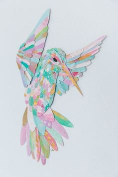 Paper Feather Studio Handmade Paper Art of Birds | Swan, Hummingbird, Owl, Parrot, Flamingo