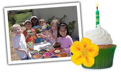 Throw a garden birthday party