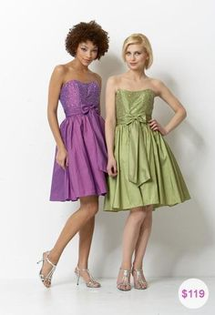 For a more glamorous appearance, if it is an elegant evening reception, you can choose a long purple dress, with some green and silver accessories. Description from theweddingspecialists.net. I searched for this on bing.com/images