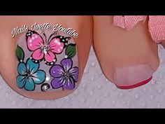 Merry Christmas Gif, Pedicure Designs, Manicure And Pedicure, Toe Nails, Nail Art, Youtube, Erika, Nail Ideas, Enamel