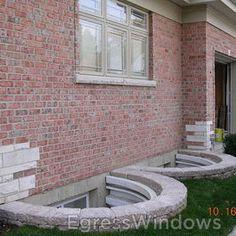 Decorative stone around window wells?
