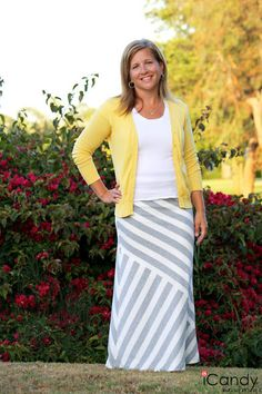 Jersey maxi skirts are comfy, cool and easy to wear! Try it with a bright cardigan for an easy summer Friday look.