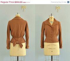 vintage 1940s jacket / new look jacket / 1940s brown blazer