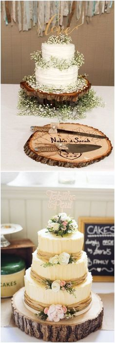 25 Must See Drop-dead Rustic Wedding Ideas - wedding cakes