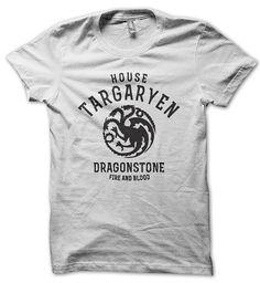 Game Of Thrones House Targaryen Mens Black on White by Tr3ndUK, £11.99