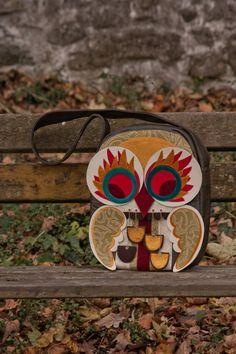 Colorful Owl Handbag by PushaLaura on Etsy