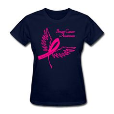 Breast Cancer Awareness Outline Women's T-Shirt Navy Women's T-Shirt |... ($20) ❤ liked on Polyvore featuring tops, t-shirts, navy tee, ribbed t shirt, tee-shirt, tailored t shirts and relaxed fit t shirt